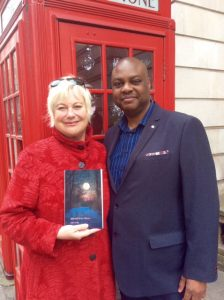 Jude Neale with her published in London